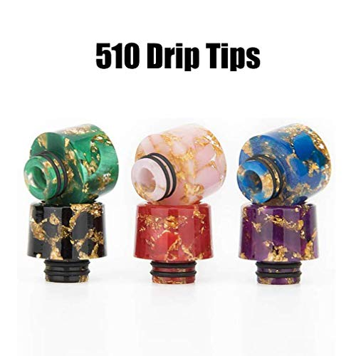 CENGLORY Silicone Anti Slip Band Rings Attached Drip Tip Cover Protection Skin (2PCS,Random 510)