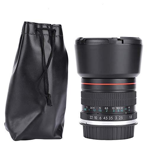 Oyunngs Teleobjetivo Medio F1.8 de 85 mm, Enfoque Manual, Lente de fotograma Completo para cámaras DSLR con Bolsa de Almacenamiento(para Nikon F Mount)