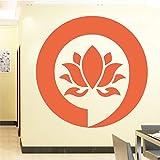 Ajcwhml Logo Mandala Buddha Lotus Etiqueta de la Pared Dormitorio Muebles para el hogar Etiqueta de la Flor Pegamento de Vinilo Pasta de Flores Decoración de la Pared 43cm X 42cm