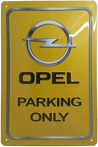 Opel Parking Only Blechschild, Blechschild, Original Brand Nostalgic Retro Metal Plate, 20 x 30 cm Wand-Dekoration, Poster, Werbung, Geschenk