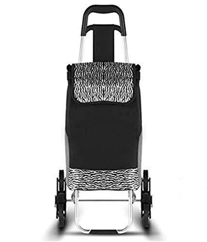 HYY-YY Handkarre / Einkaufstrolley, zusammenklappbar, tragbar, mit Rädern