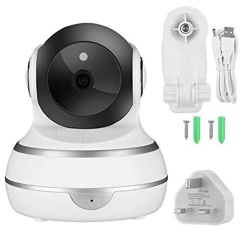 KK Timo Cámara de Buena Smart Wireless Wi-Fi, cámara PTZ WiFi 1080P Audio IP Cubierta de Vigilancia de la cámara de detección de Movimiento 100-240V for la Seguridad casera (Reino Unido)