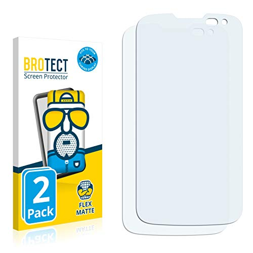 BROTECT Full-Cover Schutzfolie Matt kompatibel mit LG K3 2016 (2 Stück) - Full-Screen Bildschirmschutz-Folie, 3D Curved, Anti-Reflex