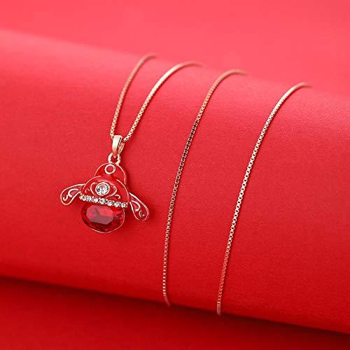 PicZhiwenture Halskette Anhänger Schlüsselbeinkette Kette Peking Opera Facebook Mode Halskette Retro Herbst Winter Pullover Kette-D