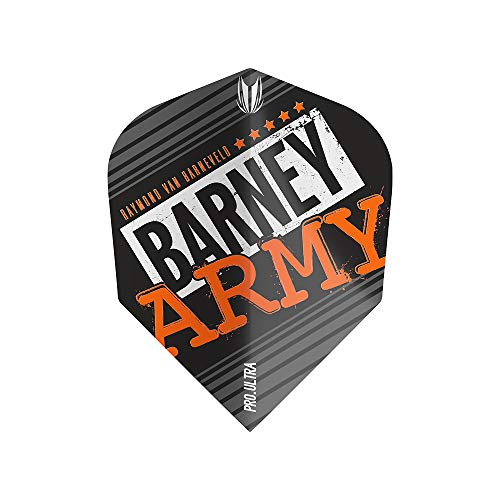 Target Dartpfeile Barney Army Flight – 3 Stück, Unisex, 334330, Schwarz, No.2