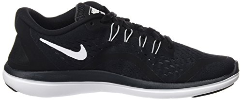 Nike Nike Damen Flex 2017 RN Traillaufschuhe, Schwarz (Black/White/Anthracite/Wolf Grey 001), 36.5 EU