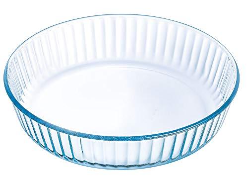 Arcuisine Pirex Moule à tarte en verre de qualité supérieure - Pour quiches, tartes aux fruits et plus - 26, 27, 30 cm, Verre, 26 cm - 6 cm hoch