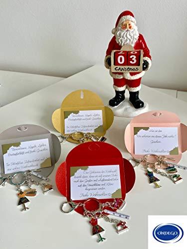 ONDEGO WEIHNACHTSGESCHENK Karte Geschenk Mode Schlüsselanhänger bunt Emaille Näherin Schneiderin Nähmaschine Schneiderpuppe nähen Hobby Weihnachtsgeschenk