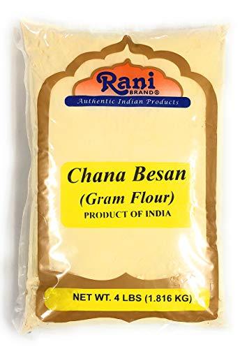 Rani Chana Besan - Chickpeas Flour, Gram 4lb (64oz) ~ All Natural | Vegan | Gluten Free Ingredients | NON-GMO | Indian Origin