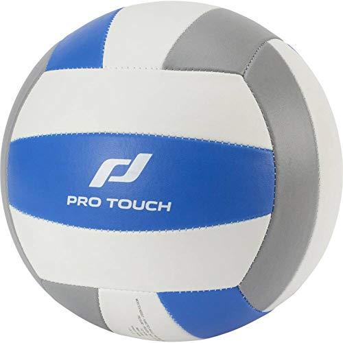 Pro Touch Unisex– Erwachsene MP-School Volleyball, WEIß/BLAU/GRAU, 5