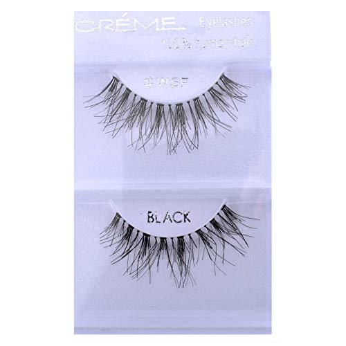 6 Pairs Crème 100% Human Hair Natural False Eyelash Extensions #WSP ,Free Gift