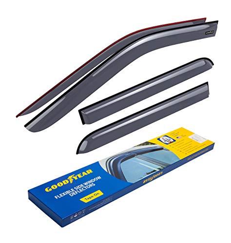 Goodyear Windabweiser für Mitsubishi Outlander III 2012-2021 Autofenster Regenschutz, Regenabweiser, Anklebbare Deflektoren, 4 Stück