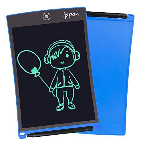 IPPON LCD Schreibtafel 8,5 Zoll, Handschrift Notizblock, Zeichnung Boards Schreibtafel für Kinder & Erwachsene, Schreib und Skizzen Pad für Schule und Büro(Blue)