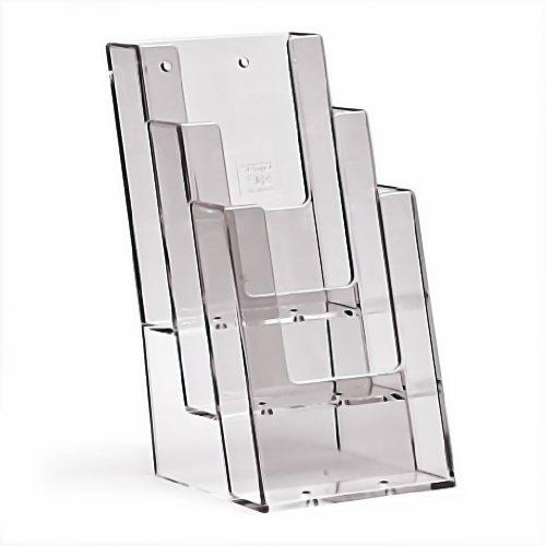 Taymar Prospekthalter/Flyerhalter 3 Fächer DIN lang