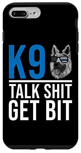 iPhone 7 Plus/8 Plus K9 Thin Blue Line - German Shepherd Police Dog US Flag Case