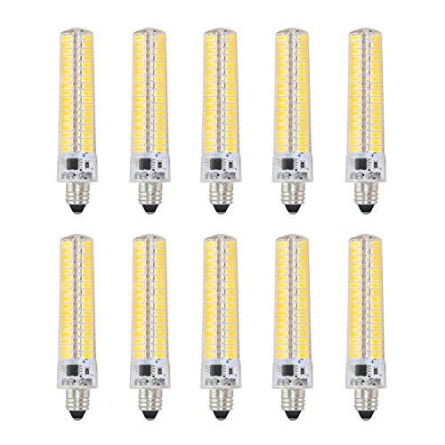 YQXR led bombillas Bombilla LED de bajo consumo, E11 AC 110-120V Bombilla de maíz de silicona 5730 SMD 136LED Lámpara regulable 10W (equivalente a 90W de halógeno) Bombilla LED for iluminación domésti