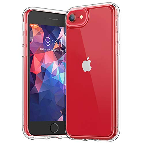 YOUMAKER Clear Case for iPhone SE 2020/8/7 , [Not Yellowing][Military...