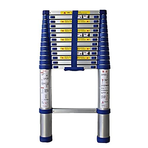 Escalera telescópica de 4.6 pies-26 pies Escaleras de extensión de Aluminio Escalera de Loft Plegable portátil y Extensible para Oficina en el jardín del hogar (Color: Aluminio, Tamaño: 6.6M) Escale