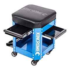 """High density 2-3/8"""" padded foam vinyl seat provides the mechanic stool with maximum comfort and reduces fatigue High quality polyurethane castors on creeper provide smooth rolling action, stability, and a weight capacity of 286Lbs Outfitted with a ba..."""
