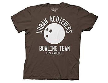 Ripple Junction Big Lebowski Urban Achievers Bowling Adult T-Shirt 2XL Medium Brown