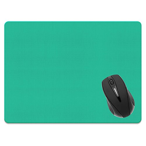 Extra Large (X-Large) Size Non-Slip Rectangle Mousepad, FINCIBO Solid Uncommon Teal Mouse Pad for Home, Office and Gaming Desk