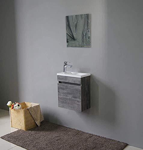 HCJZWJ Cuenca baño Colgante Resina Conjunto de Muebles (Blanco, 40 x 22 cm),B