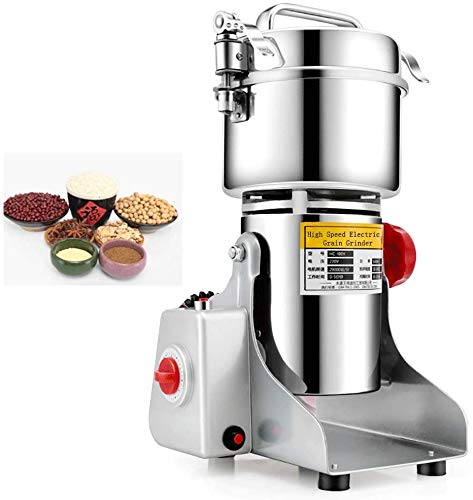 MXBAOHENG 400g Electric Grain Grinder Mill Cereal Spice Grinder Herb Pulverizer Superfine Powder Machine for Home (220V)