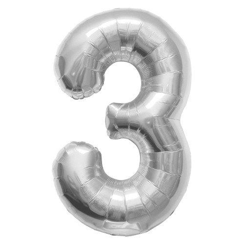 La luchtballonnen 00097 folie ballon, zilver