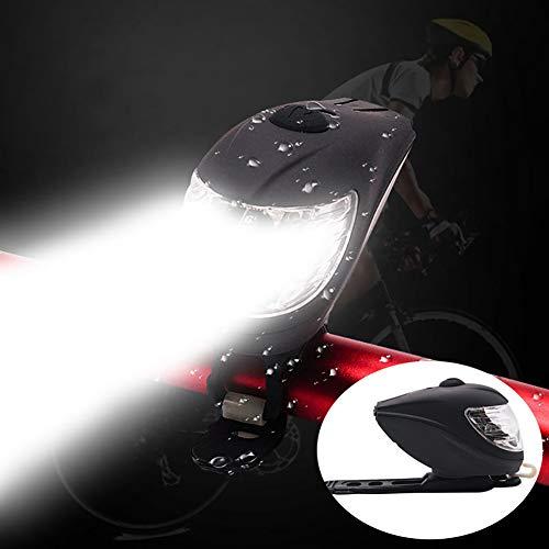 ENticerowts Fahrradlicht Fahrradzubehör Fahrradlicht USB Aufladung Fahrrad-Taschenlampe Starke Fahrradbeleuchtung Wasserdichte Lampe – Schwarz #1