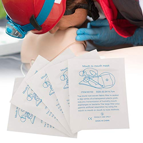 Escudo de cara de CPR adecuado, máscara de máscara de respirador 20pcs Kit combo de plástico