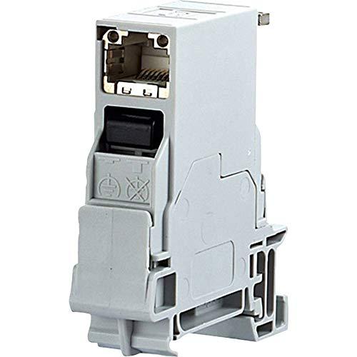 METZ CONNECT 1401106113KE Netzwerkdose Hutschiene CAT 6 Lichtgrau