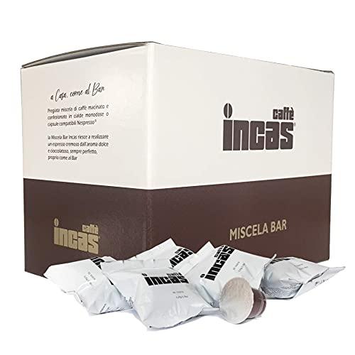 Capsule di caffè tostato artigianalmente italiano, compatibili con le macchine da caffè Nespresso, aromi intensi ed equilibrati della nostra pregiata miscela Inca. Confezione da 100 capsule.