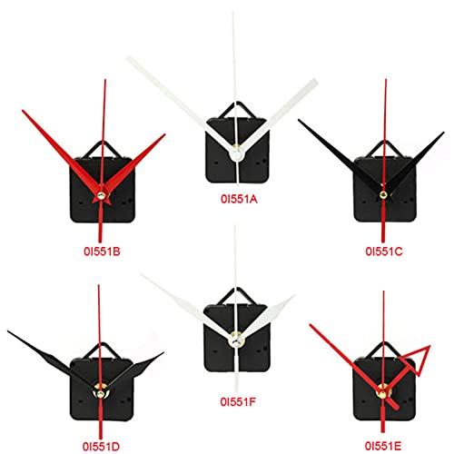 YHYMY Reloj de Pared Grande silencioso Mecanismo de Movimiento de Reloj de Cuarzo Piezas de reparación de Bricolaje + Reloj de Manos Movimiento de Reloj de Pared