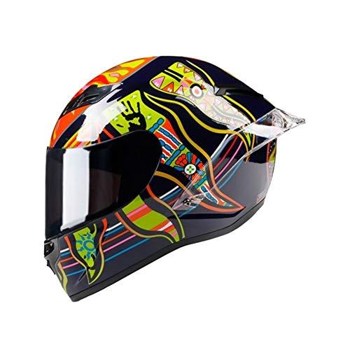 Mrjg Cinco Continentes Casco de la Motocicleta de la Cara Llena compite con el Casco Casco Off Road motocrós (Color : 3, Size : L)