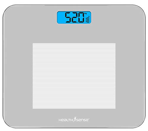 HealthSense Dura-Glass PS 115 Digital Personal Body Weighing Scale, Best Electronic Bathroom...