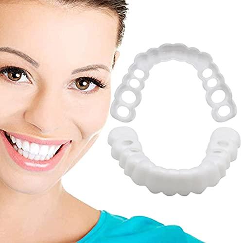 Carillas Dentales Smile, Dentadura Dientes Un Tamaño Que Se Adapta A La Mayoría, Dientes Cosméticos Realistas Flexibles