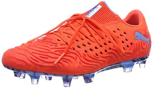 PUMA Herren Future 19.1 Netfit Low FG/AG Fußballschuhe, Rot Red Blast Bleu Azur 01, 40 EU
