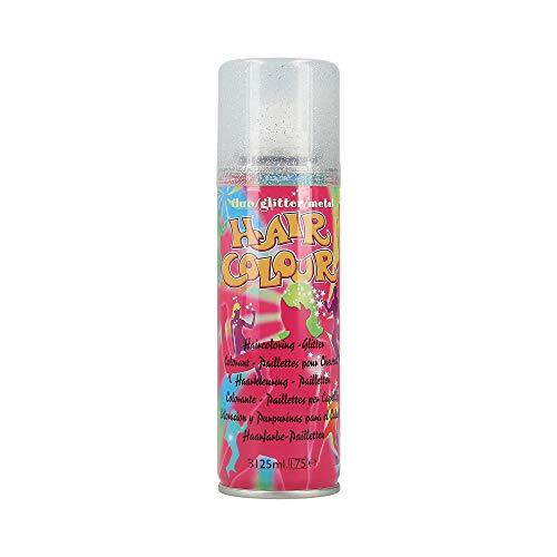 Color Spray Glitter, silber, 125 ml