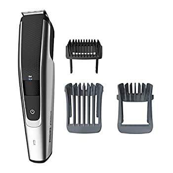 Philips Series 5000 Norelco Electric Cordless One Pass Beard and Stubble Trimmer with Washable Feature Black and Silver