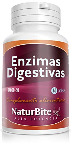 Naturbite Enzimas Digestivas - 60 Tabletas, 32 g