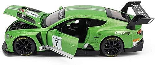 Modelo de coches para niños Fundición a presión de metal del modelo del coche, detallada del Interior, regalos de cumpleaños for niños y niñas, 1: 32 Bentley Continental GT3 Modelo aleación coche cole