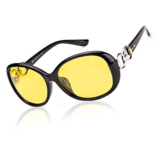 Enafad Nachtsichtbrille Polarisiert HD Sonnenbrille Autofahren Für Damen mit 100{febe7d0f198320b048e586d86145bbd4bd47d420c73c3255540ba7e3bdf1fd25} UVA&UVB Schutz