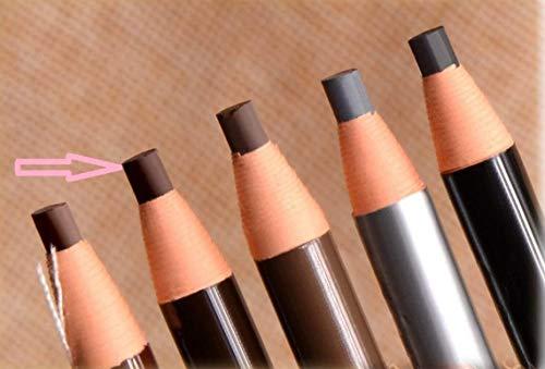 dersoning Bleistift für Augenbraue Wasserdicht für das Kordelzug der Aluminiumverbundplatte-microblading Lieferungen Make-up (braun)