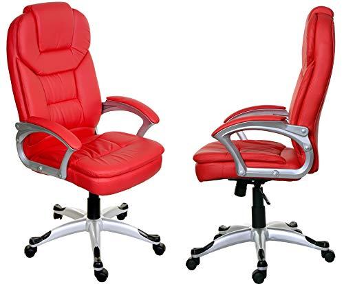 Giosedio Rosso BSM001 Poltrona sedia ufficio di ECO pellePU, TILT