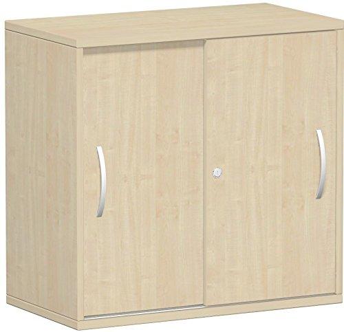 Gera Möbel kast Flex schuifdeurkast, houtdecor, esdoorn, 80 x 42,5 x 79.8 cm