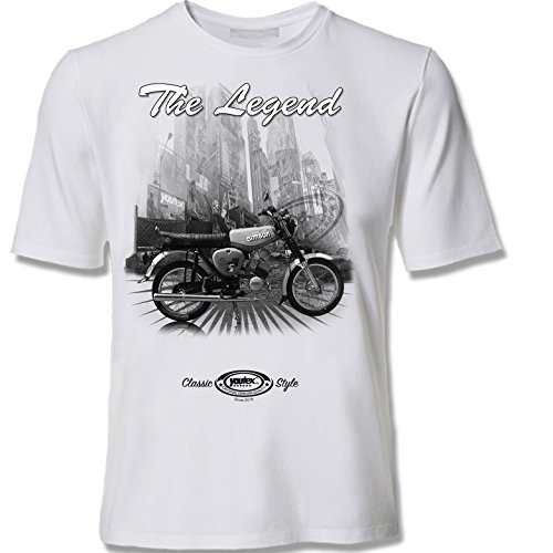 youtex  Simson S 51 Black and White T Shirt (S)