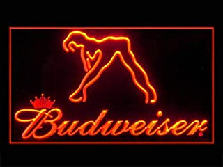 Budweiser Exotic Dancer Bar Pub Led Light Sign