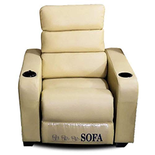Leather Recliner, Recliner Chair Single for Couch Sofa, Lounge Chair Adjustable, Manual Lift, Home Theater Seat, This is The Best Choice for Elderly