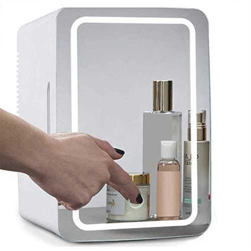 Mini Refrigerador Personal Portátil De Belleza De 8 Litros, Refrigerador Para El Cuidado De La Piel Con Espejo De Maquillaje 2 En 1 Con Luz LED, Utilizado Para El Cuidado De La Piel En El Hogar