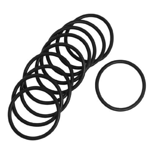 10Pcs Joint du filtre en caoutchouc noir O par joint torique 28mm x 25mm x 1,5mm